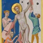 Illumination du martyre de saint Barthélemy par Pacino di Bonaguida, tempéra, fait à Florence, ca. 1340 ; conservé au Metropolitan Museum of Art, New York © Libre de droits