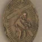 Le moulage du sceau du gardien du couvent de Saint-François de Doullens (Picardie 1489). © Archives Nationales